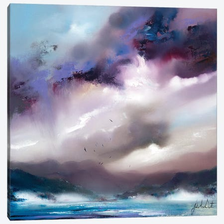 An English Lake 3-Piece Canvas #JUI4} by Julie Ann Scott Canvas Art