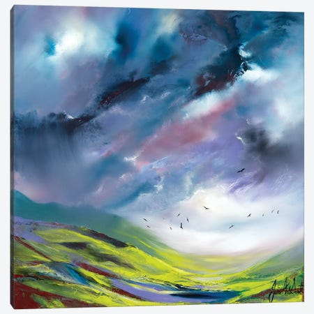 An English Storm Canvas Print #JUI5} by Julie Ann Scott Canvas Artwork