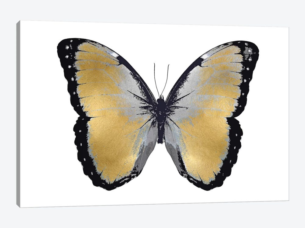 Butterfly In Metallic I 1-piece Canvas Artwork