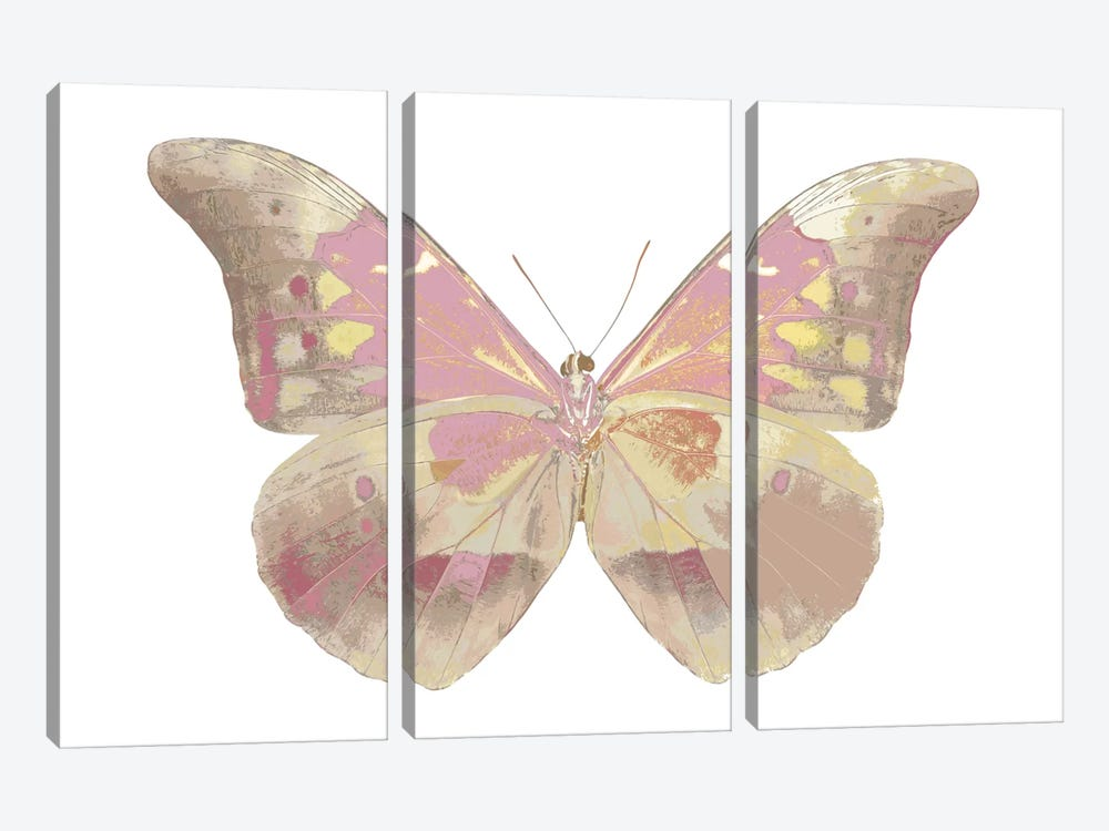 Butterfly In Teal I by Julia Bosco 3-piece Canvas Artwork