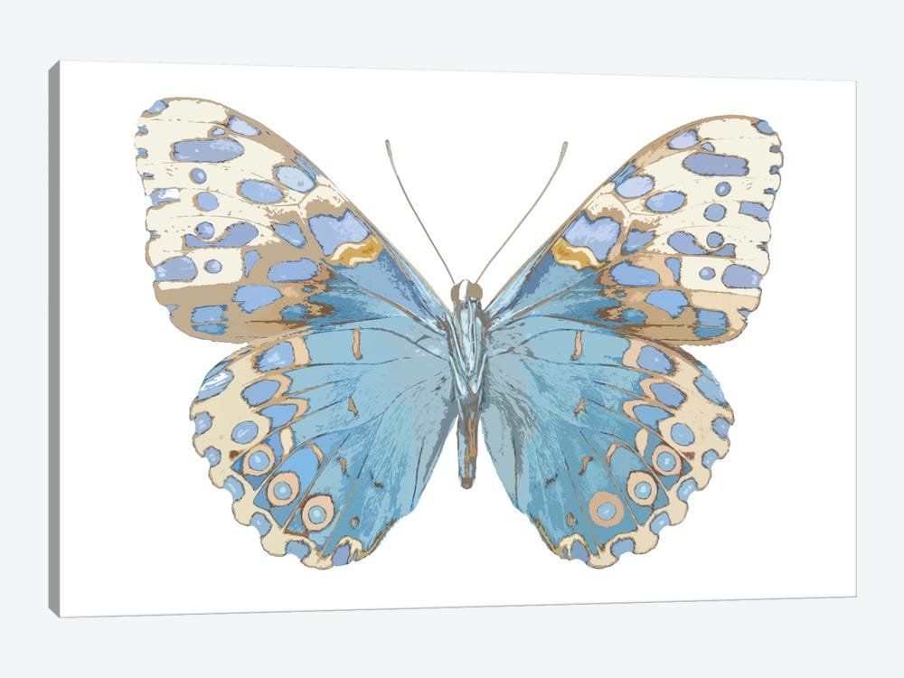 Butterfly With Indigo by Julia Bosco 1-piece Art Print