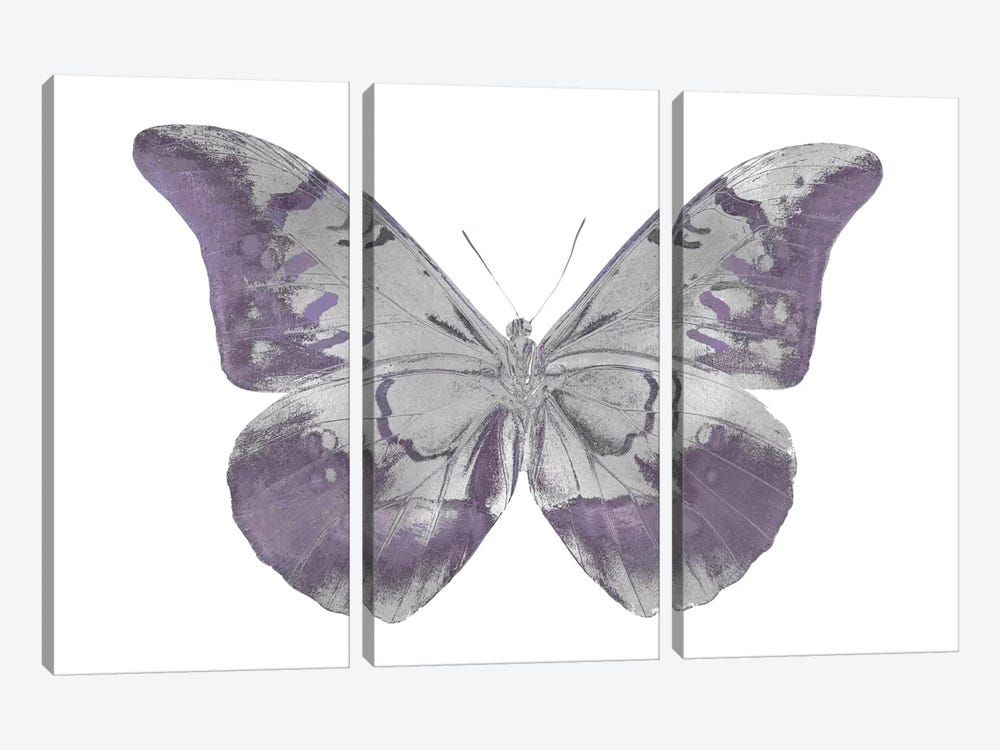 Butterfly In Amethyst I 3-piece Canvas Print
