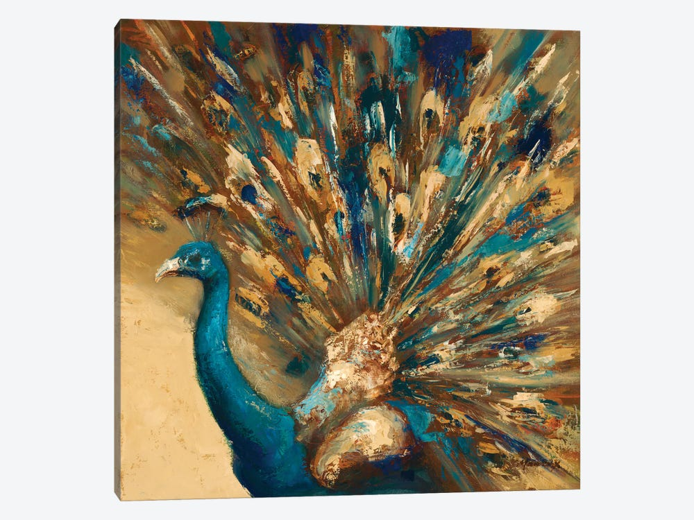 Proud Peacock by Julianne Marcoux 1-piece Art Print