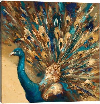 Proud Peacock Canvas Art Print