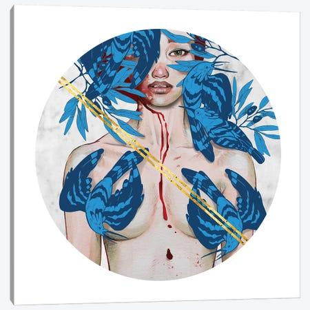 Blue Birds Canvas Print #JUR3} by JUURI Canvas Art Print