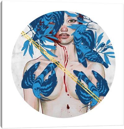 Blue Birds Canvas Art Print