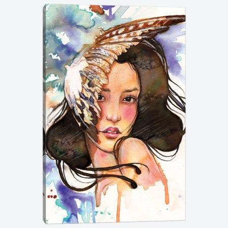 Eagles Feather Canvas Print #JUR4} by JUURI Canvas Art