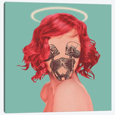 Bad Angel Canvas Print #JUS122} by maysgrafx Canvas Art Print