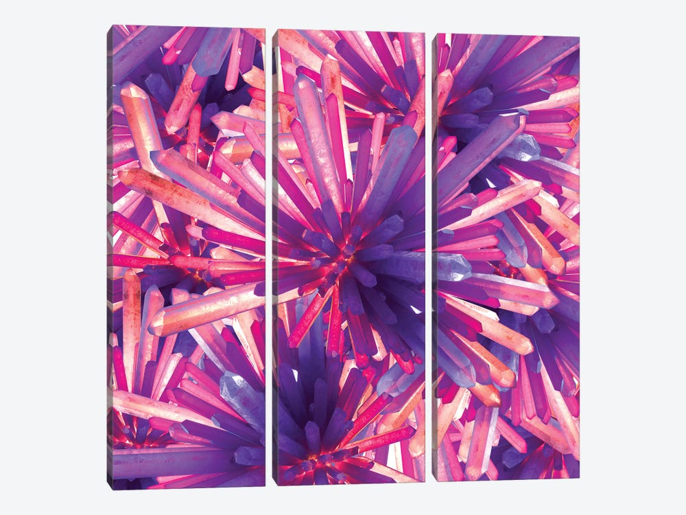 Crystals by maysgrafx 3-piece Canvas Art Print