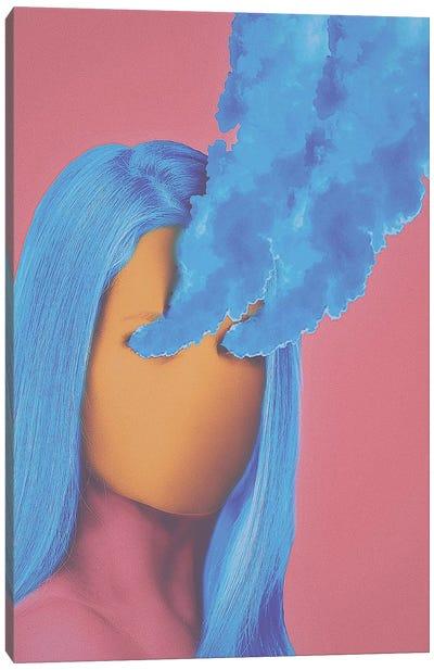 Sapphire Smoke Canvas Art Print
