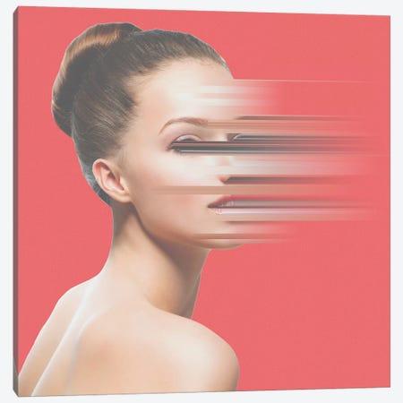 Glitch Face Canvas Print #JUS22} by maysgrafx Canvas Wall Art