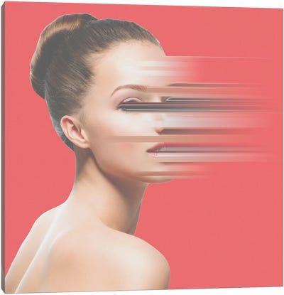 Glitch Face Canvas Art Print