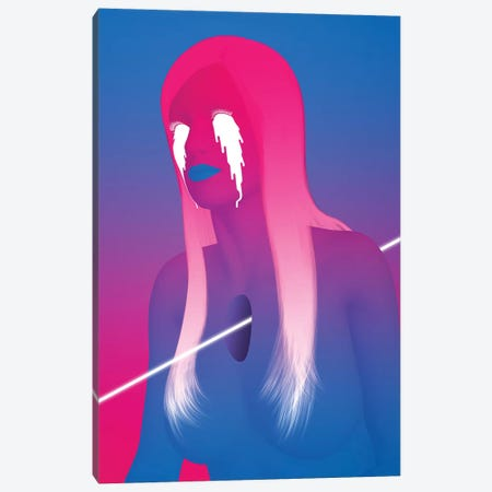 Gradient Girl Canvas Print #JUS24} by maysgrafx Canvas Art Print