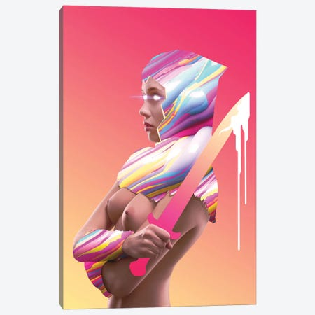New Blood, Uncensored Canvas Print #JUS30} by maysgrafx Canvas Print