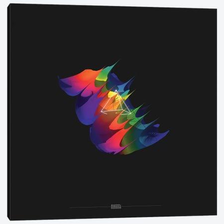 Rainbow Glitch Pyramid Canvas Print #JUS36} by maysgrafx Canvas Artwork