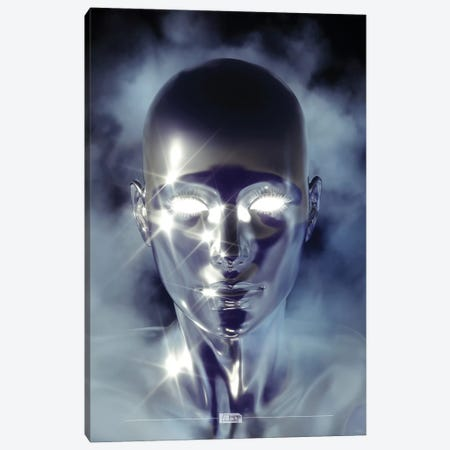 Silver Alien Canvas Print #JUS38} by maysgrafx Art Print