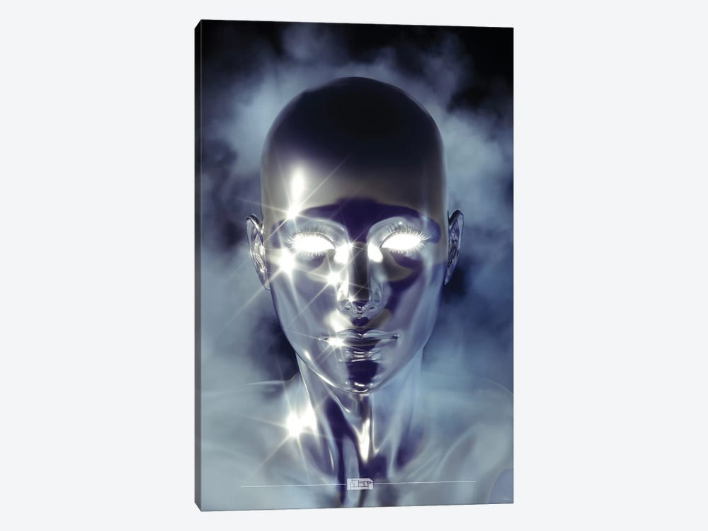 Silver Alien by maysgrafx 1-piece Canvas Art Print
