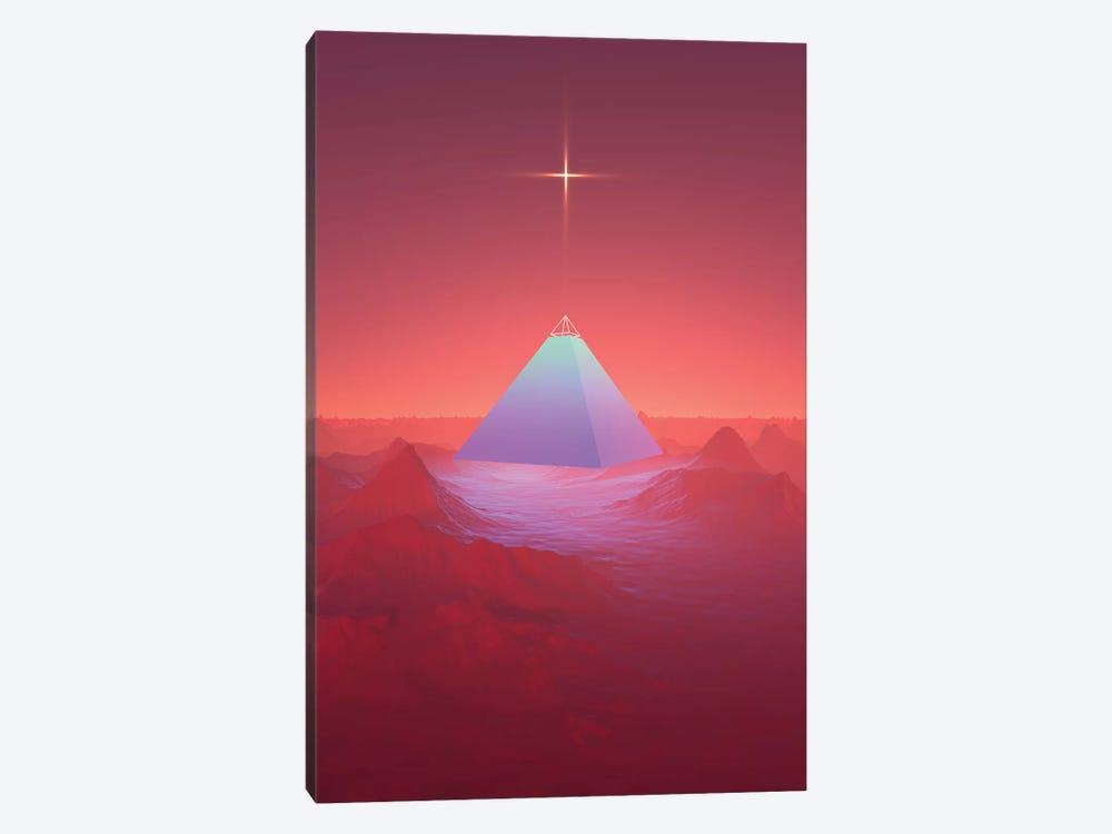 Blue Pyramid by Maysgrafx 1-piece Canvas Art Print