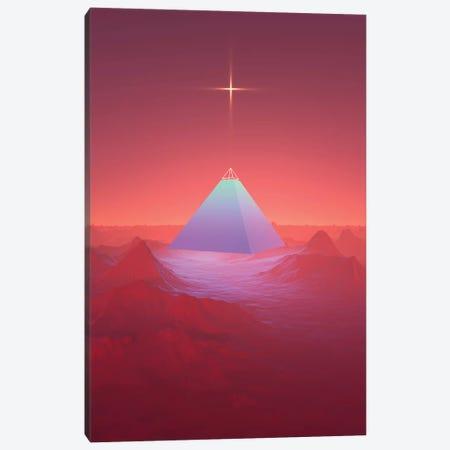 Blue Pyramid Canvas Print #JUS9} by maysgrafx Canvas Wall Art
