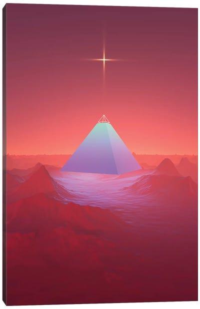 Blue Pyramid Canvas Art Print