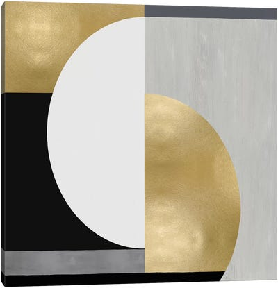 Balanced in Gold I Canvas Art Print