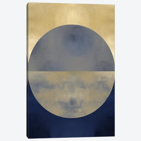 Blue Sphere II Canvas Print #JUT18} by Justin Thompson Canvas Wall Art