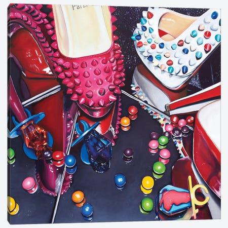 Louboutins & Ring Pops Canvas Print #JUY13} by Julia Ryan Art Print