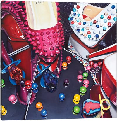 Louboutins & Ring Pops Canvas Art Print