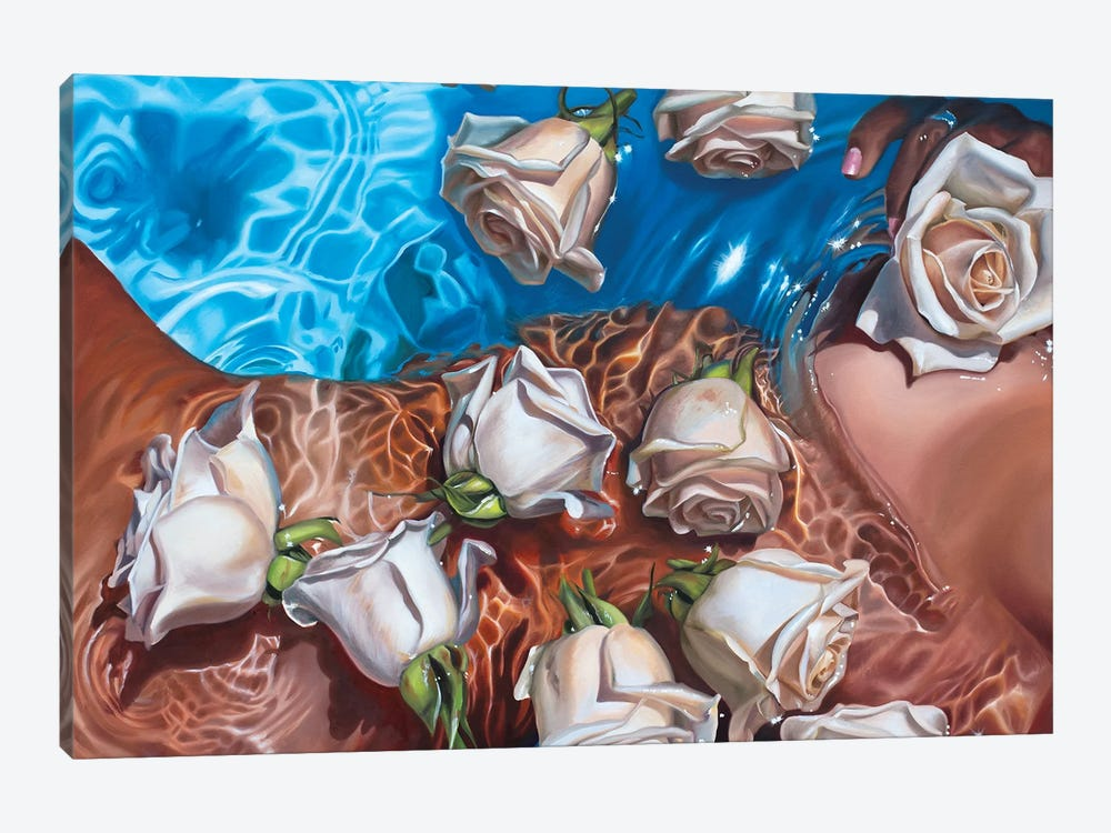 Rose Water by Julia Ryan 1-piece Canvas Art Print