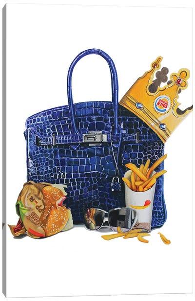 Burger King Birkin Canvas Art Print