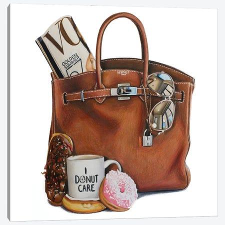 Vogue & Donuts Birkin Canvas Print #JUY25} by Julia Ryan Art Print