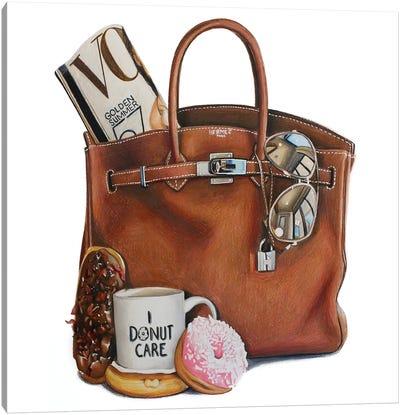 Vogue & Donuts Birkin Canvas Art Print