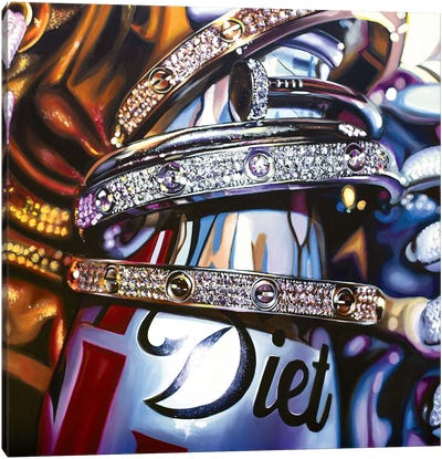 Coke & Cartier II Canvas Art Print