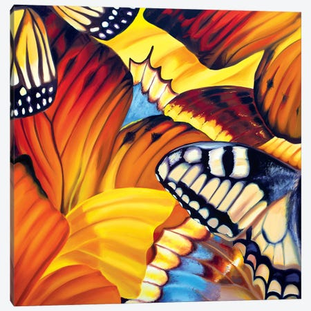 First Day Of School Butterflies Canvas Print #JUY30} by Julia Ryan Canvas Print
