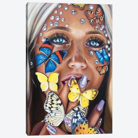 Butterfly Kiss Canvas Print #JUY6} by Julia Ryan Canvas Art Print