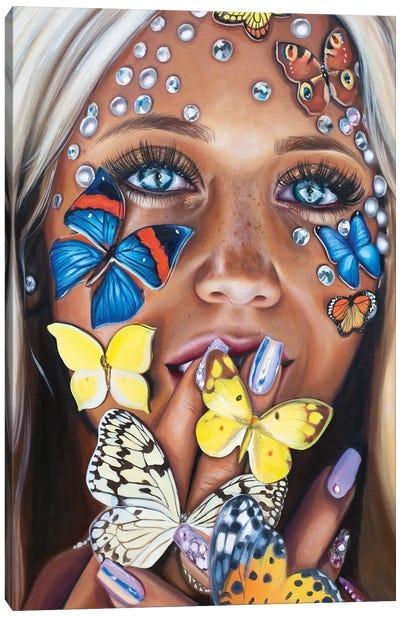 Butterfly Kiss Canvas Art Print