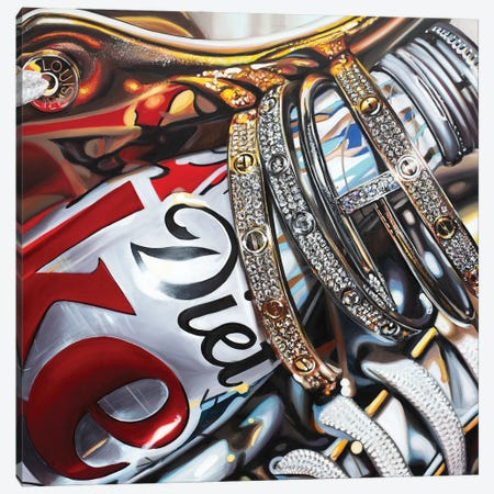 Coke And Cartier Canvas Print #JUY8} by Julia Ryan Canvas Artwork