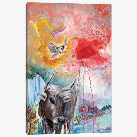 Gold Hooves Canvas Print #JVA10} by Jahna Vashti Canvas Print