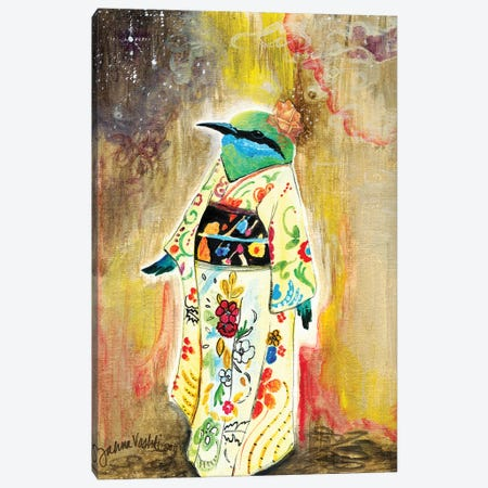 Kimono Bird Canvas Print #JVA14} by Jahna Vashti Canvas Wall Art