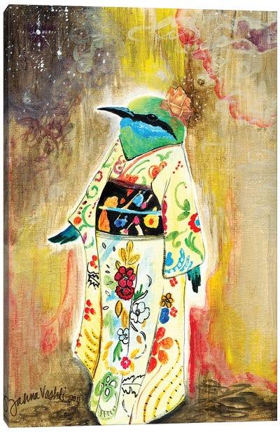 Kimono Bird Canvas Art Print