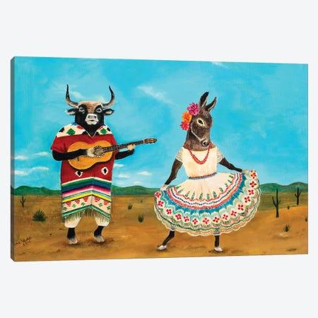 La Serenata de la Burra Canvas Print #JVA16} by Jahna Vashti Canvas Wall Art
