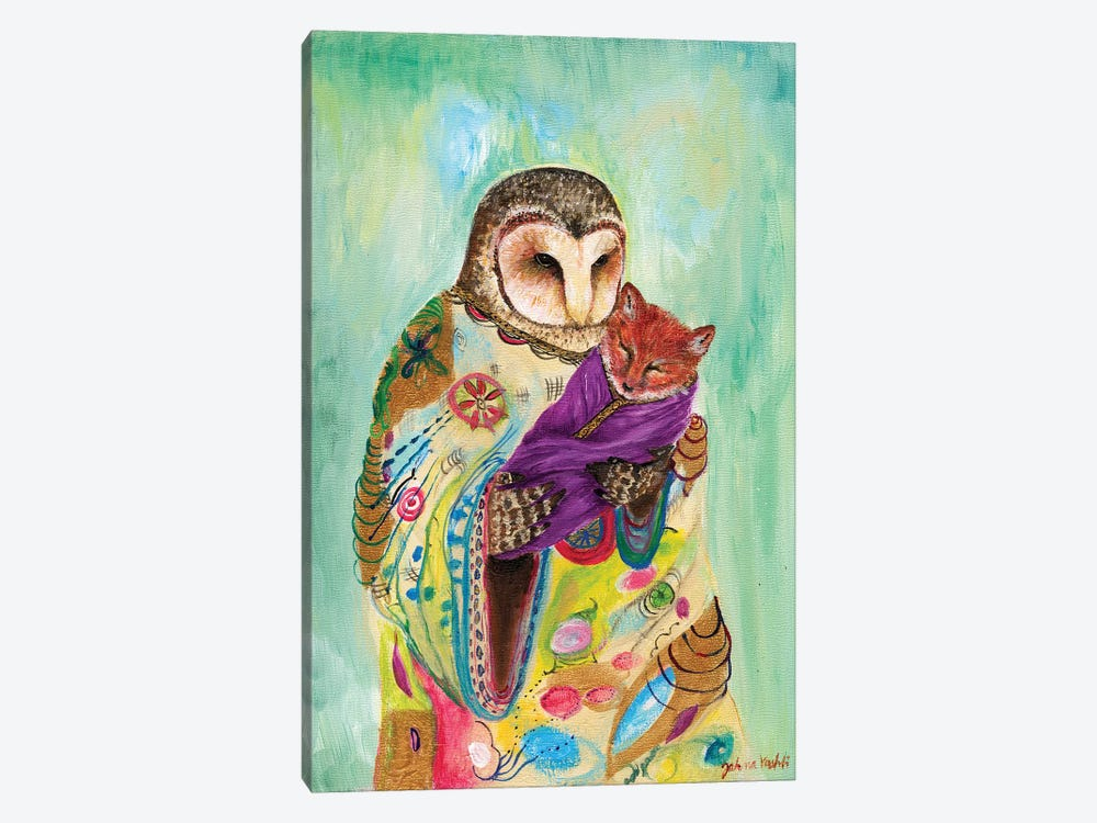 Mother Owl by Jahna Vashti 1-piece Canvas Art Print