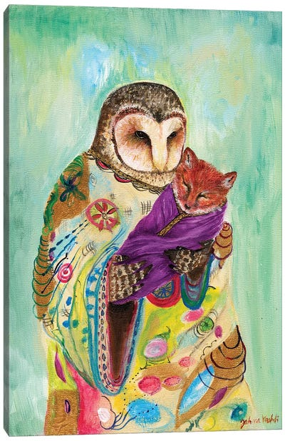 Mother Owl Canvas Art Print