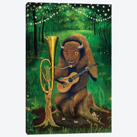 One Man Bison Band Canvas Print #JVA20} by Jahna Vashti Canvas Art