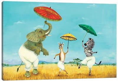 Pantaloons and Parasols Canvas Art Print