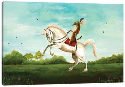 Sir Weasel's Advance Canvas Art Print