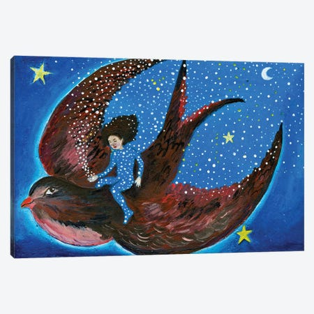 The Brightest Star Canvas Print #JVA31} by Jahna Vashti Art Print