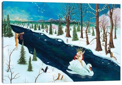 The Holly Bear Prince Canvas Art Print