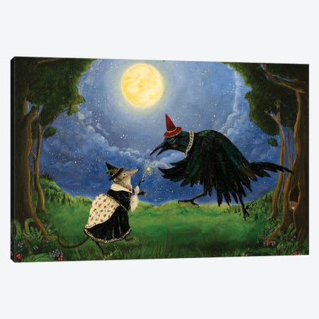 The Shrew and the Crow Canvas Print #JVA34} by Jahna Vashti Canvas Art