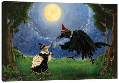 The Shrew and the Crow Canvas Art Print